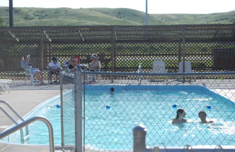 Outdoor swimming pool at Colorado Springs KOA.