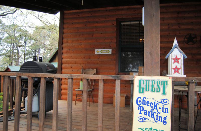 Office at Cabin Fever Resort.