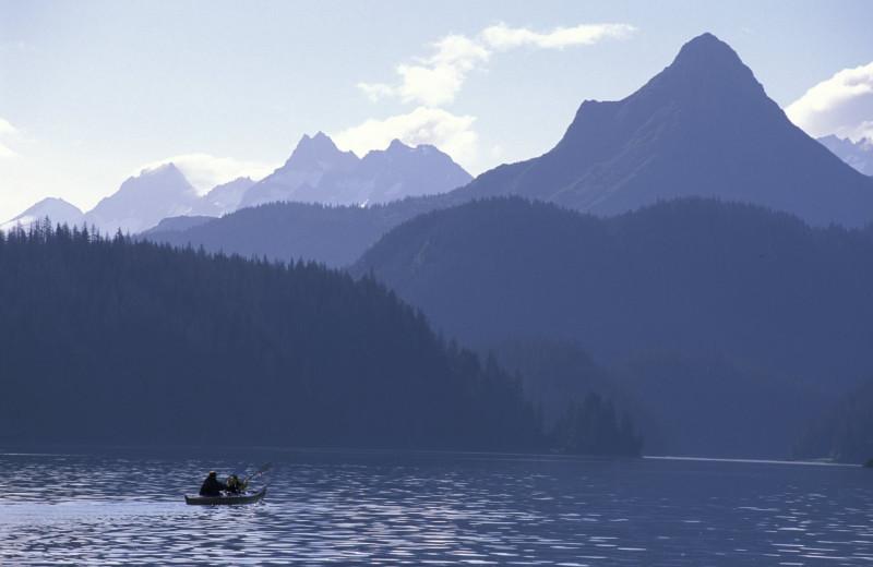 Scenic view at Kachemak Bay Wilderness Lodge.