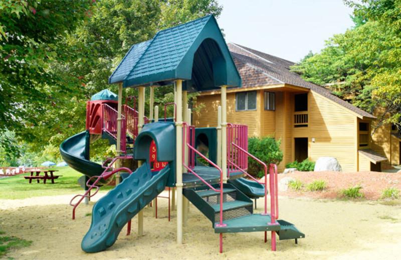 Playground equipment at Summit Resort.