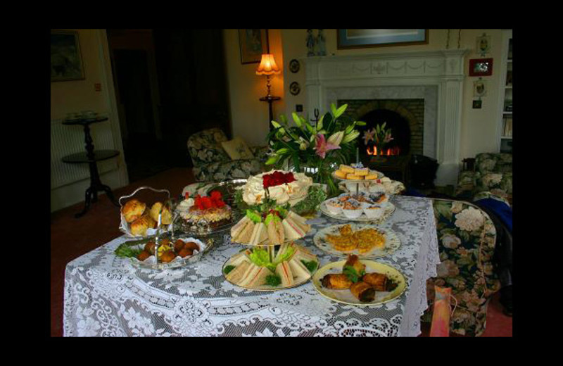 Afternoon tea at Minmore House Hotel.
