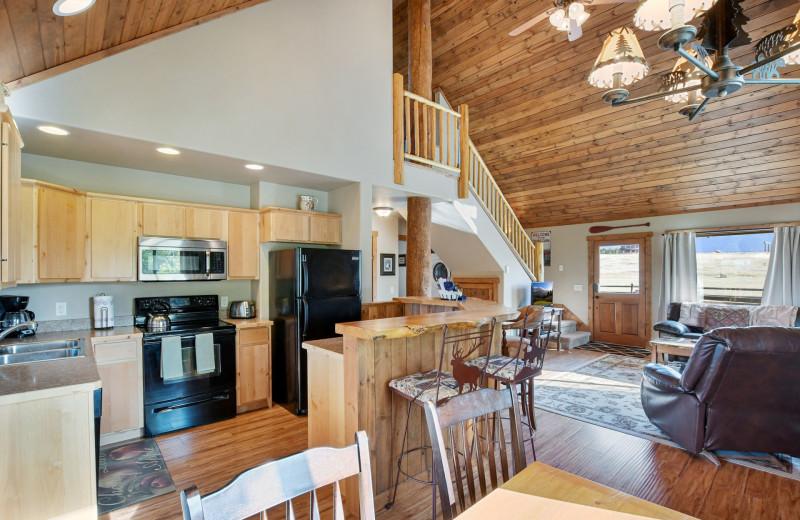 Cabin interior at Gentry River Ranch.