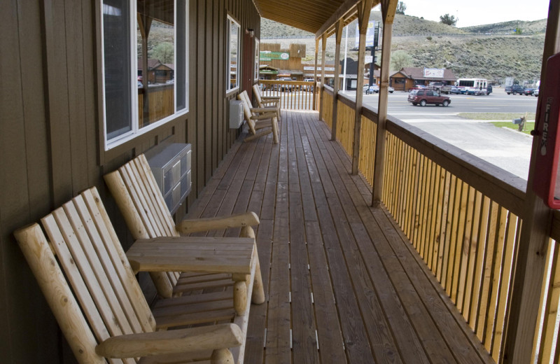 Chairs On Porch at Big Bear Motel