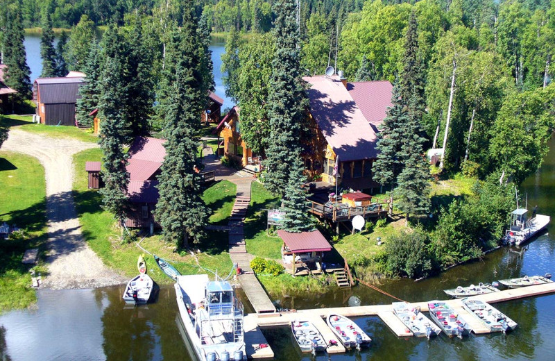 Aerial view of Northwoods Lodge.