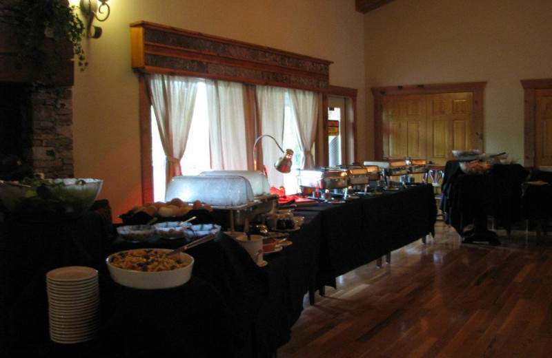Buffet at Copperhead Lodge.