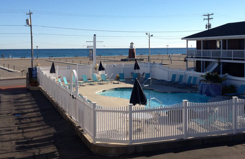 Outdoor pool at Sands by the Sea.