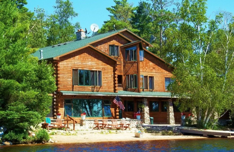 Exterior photo of Elbow Lake Lodge.