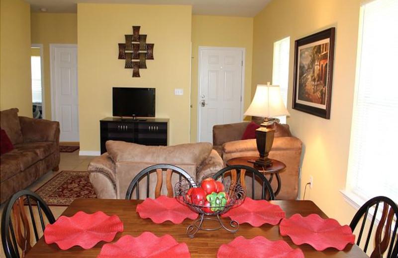 Dining room at Orange Beach Villas.