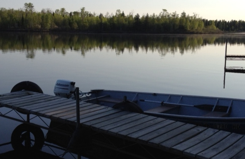 Dock at Timber Wolf Lodge Cabins.