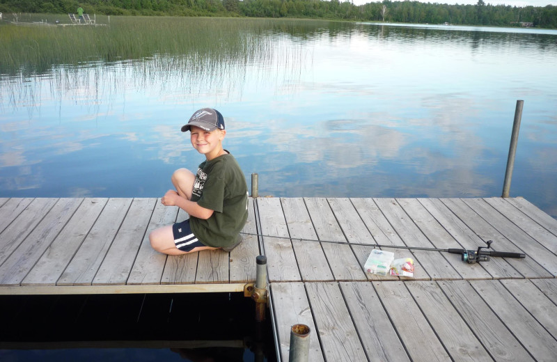 Fishing at Wild Wood Haven Resort.