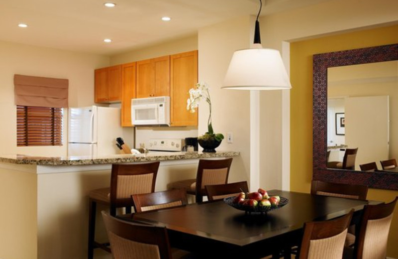 Kitchen and dining room at The Westin Mission Hills Villas.