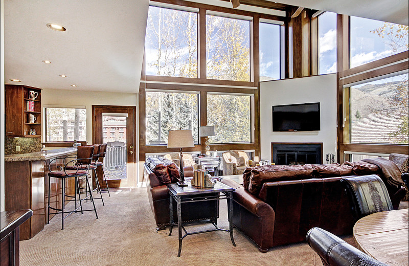 Rental living room at Vail Rentals by Owner.