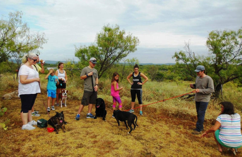 Pets welcome at Canyon of the Eagles.