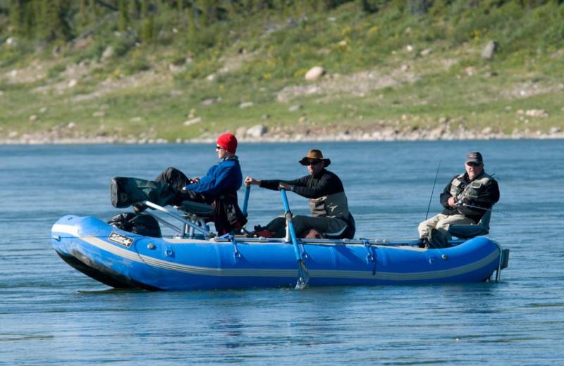 Boating at Plummer's Arctic Fishing Lodges.