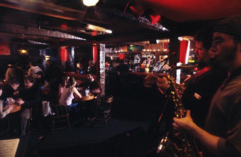 The bar at The Mountain Inn.