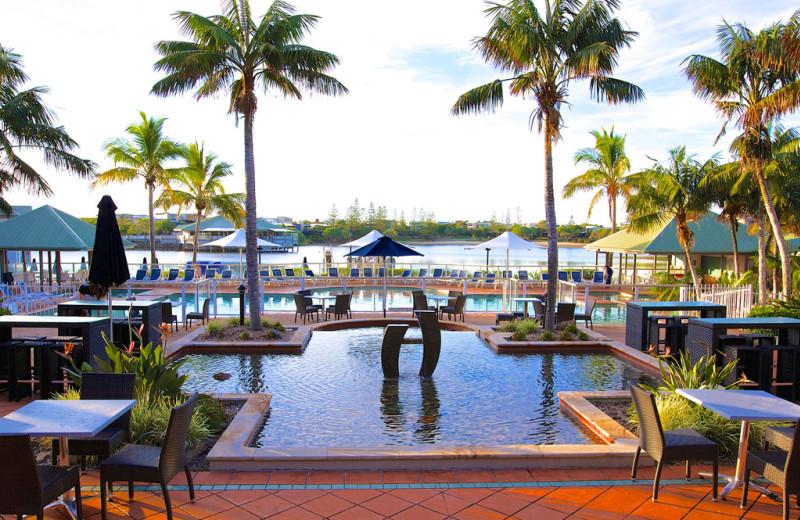 Outdoor pool at Novotel Twin Waters Resort.