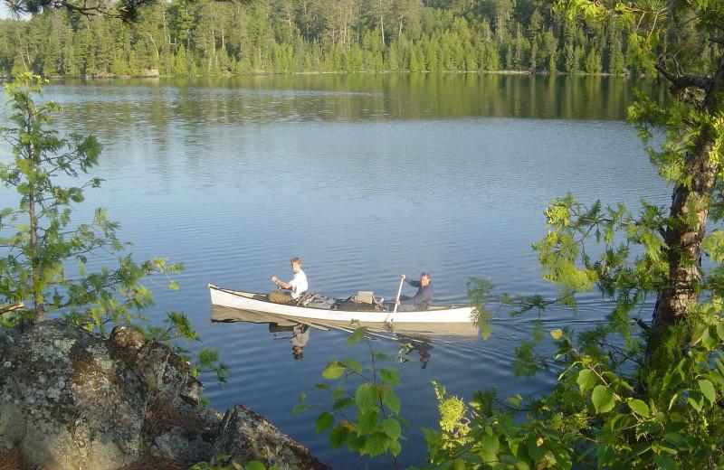 Lake canoeing at Minnesota Resort & Campground.
