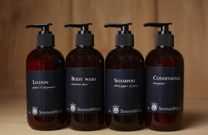 The SummerWood Inn in Paso Robles, CA guest amenities include culinary infused bath amenities created exclusively for SummerWood by Oluv Skin.