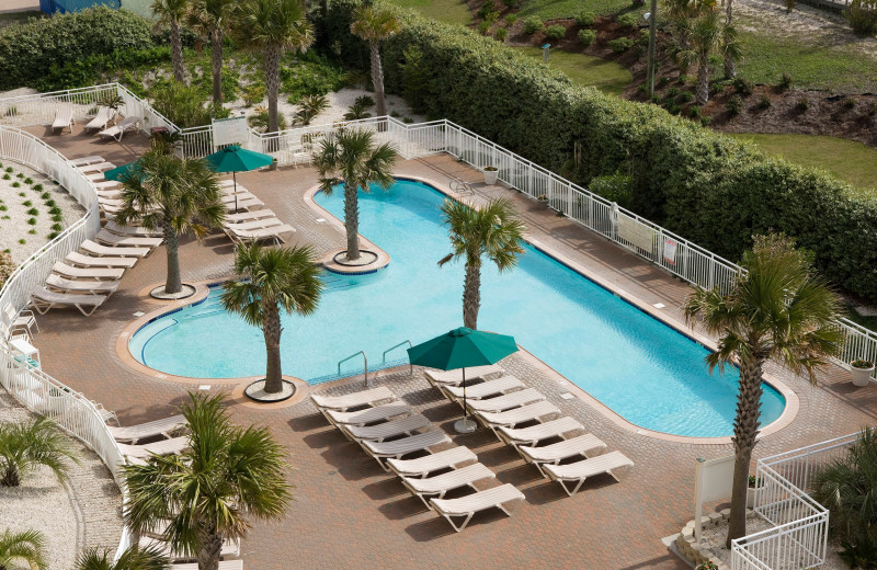 Outdoor pool at Courtyard by Marriott Carolina Beach.