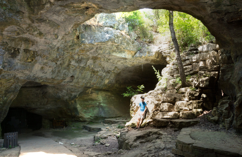 Cave near Spicewood Cottage by Lake Travis.