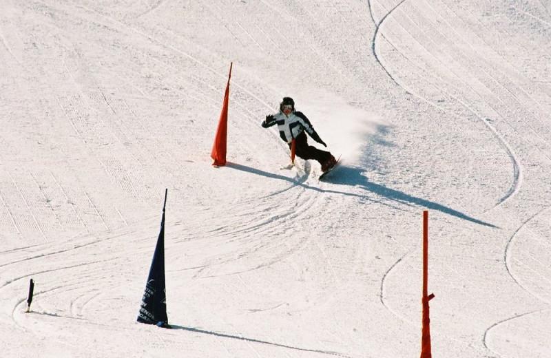 Skiing at Rabbit Ears Motel.