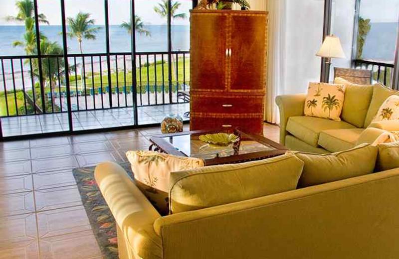 Guest living room at Sanibel & Captiva Island Condo.