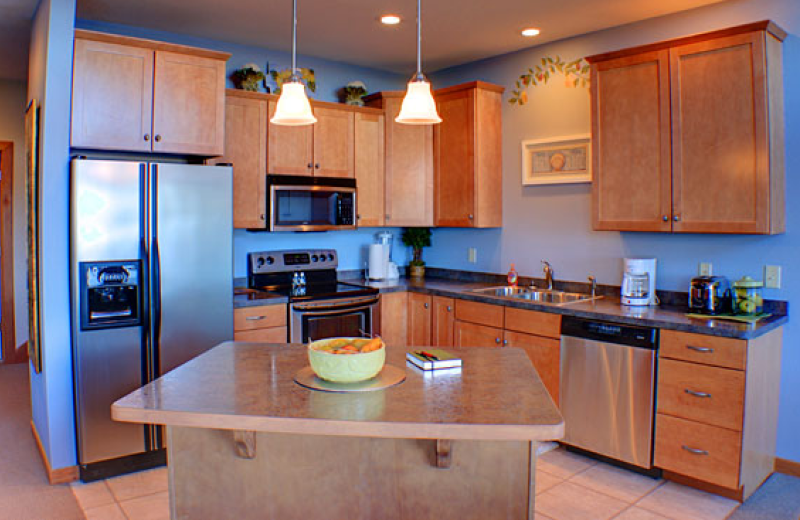 Villa kitchen at Big Sandy Lodge & Resort.