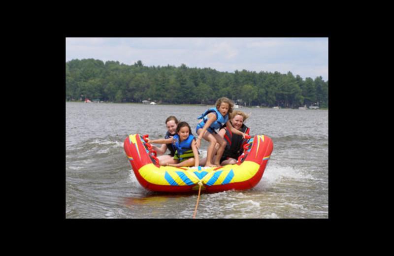 Lake fun at Stoffel's Shady Oaks Resort.