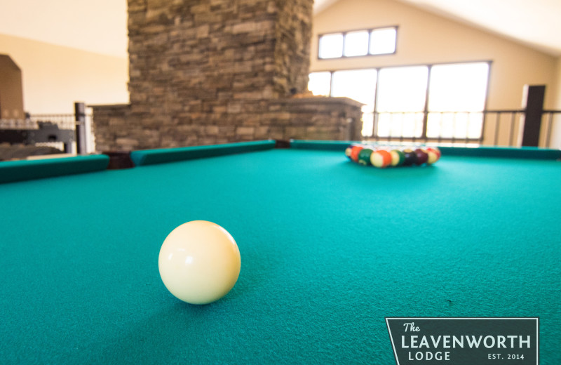 Billiard table at The Leavenworth Lodge.