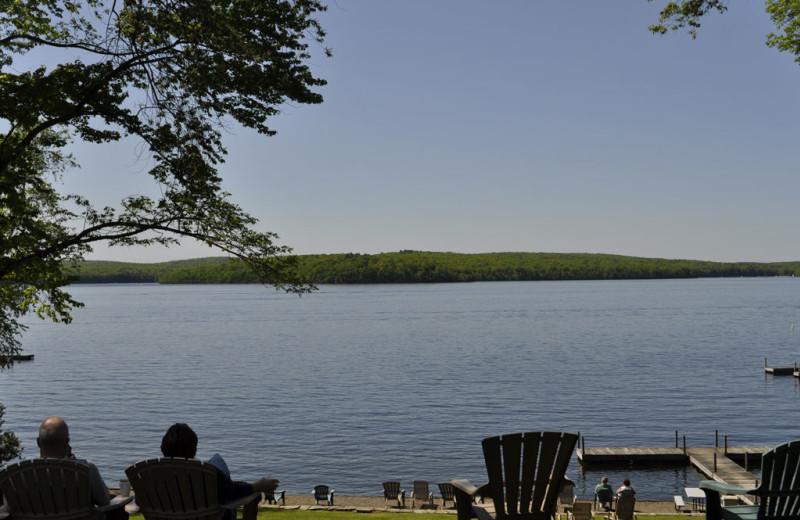 Lake view at Ehrhardt's Waterfront Resort.
