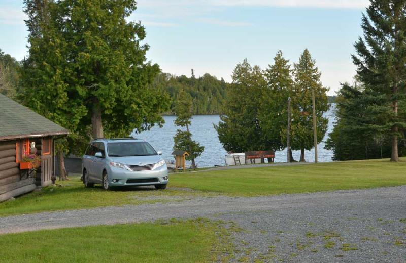 View of the Manotak Lodge Property and Lake