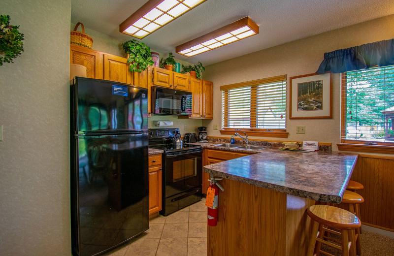 Guest kitchen at Attitash Mountain Village Resort.