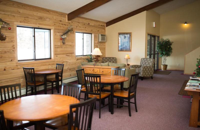 Lobby at River Bend's Resort & Walleye Inn.