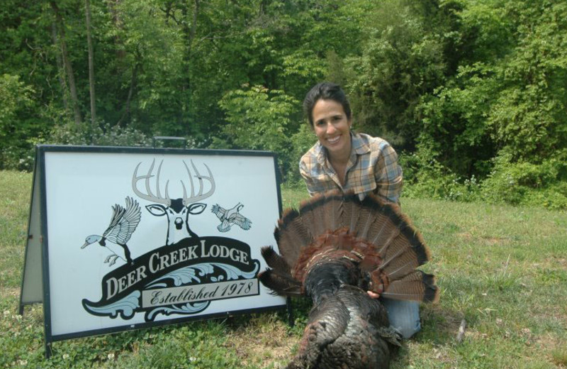 Turkey hunting at Deer Creek Lodge.