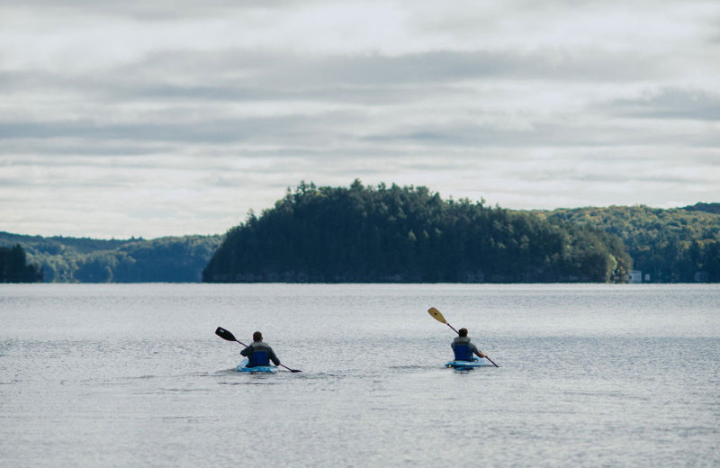 Kayaking at Port Cunnington Lodge & Resort.