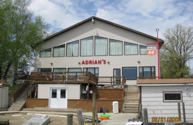 Exterior of Adrian's Resort.