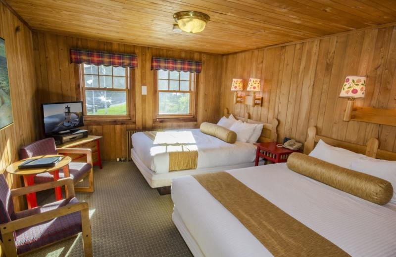 Guest room at Lutsen Resort on Lake Superior.