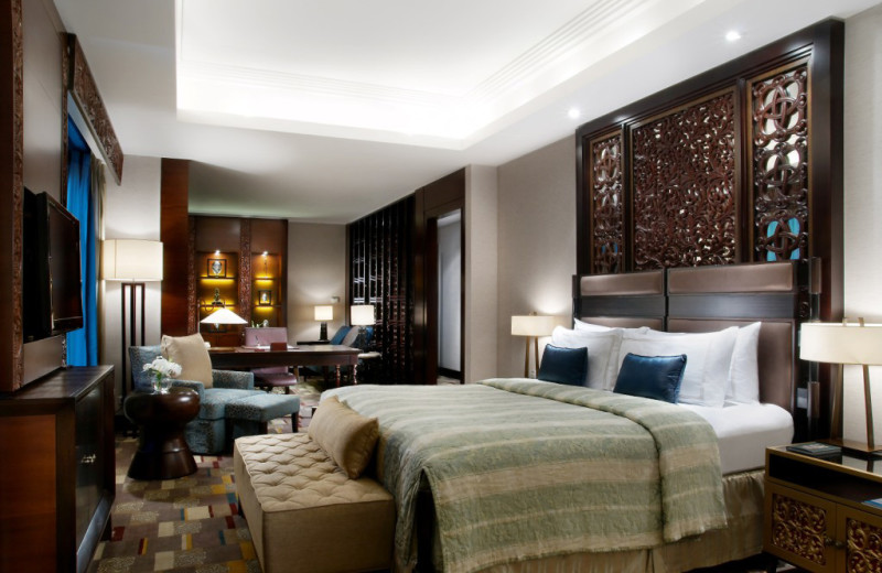 Guest room at Shangri-La Hotel-Surabaya.