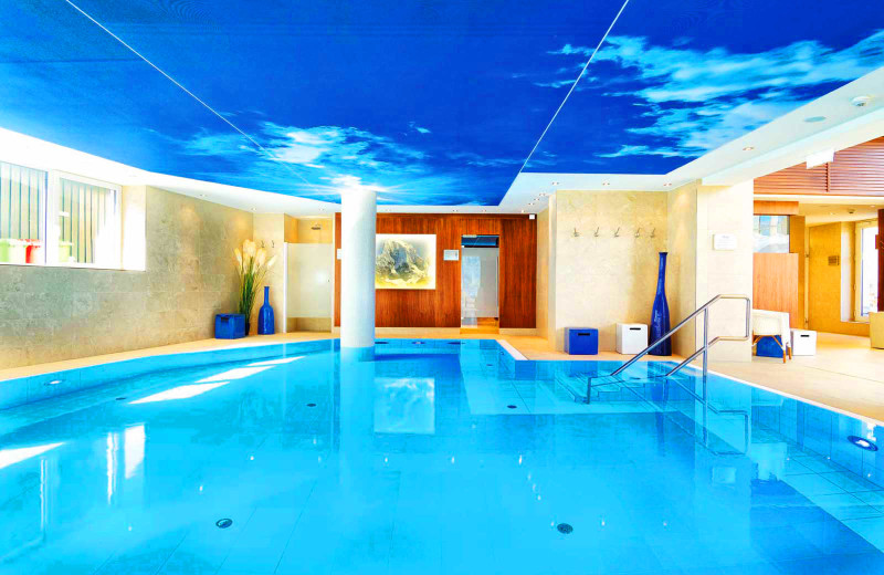 Indoor pool at Hotel Salzburger Hof.