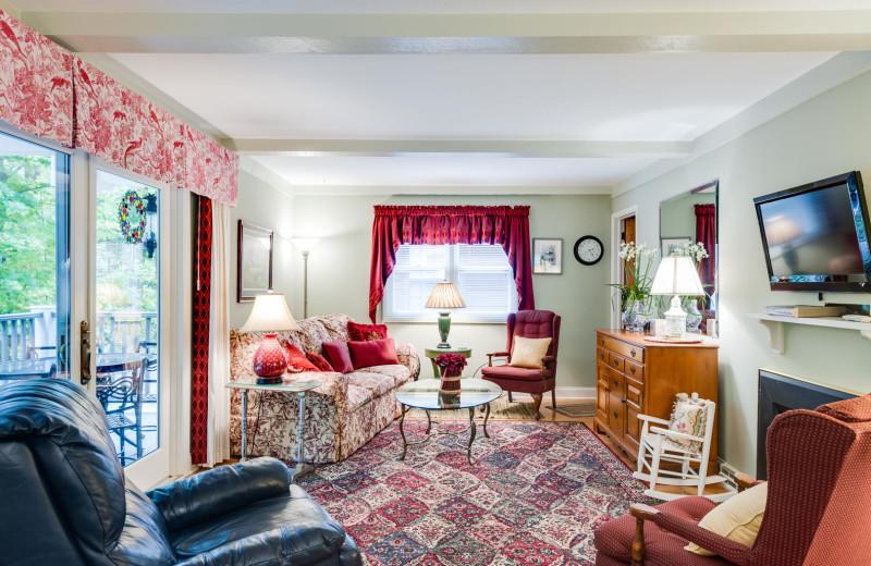Rental living room at Team VP Vacation Rentals.