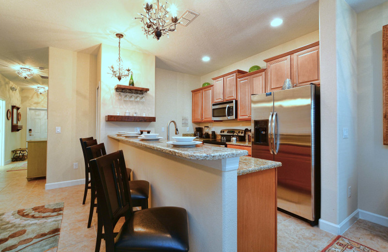 Rental kitchen at Vacation Pool Homes.