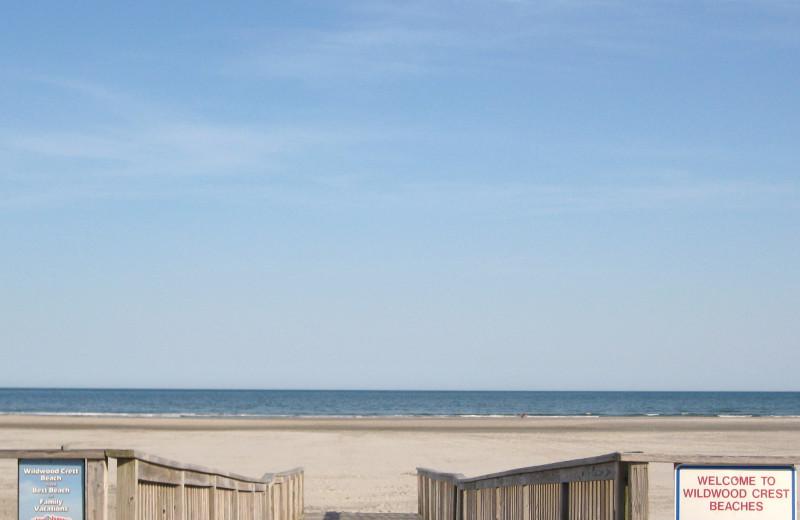 Path to beach at Diamond Crest Motel.