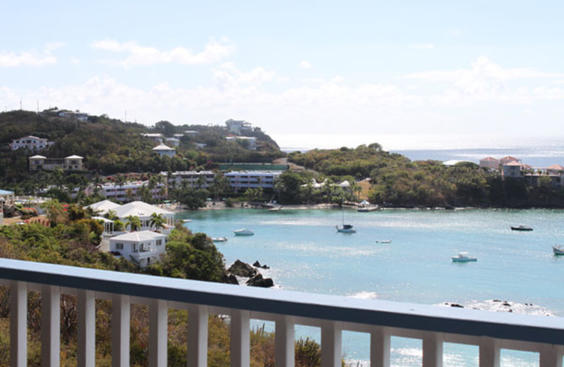Rental balcony at Paradise Cove Resort.