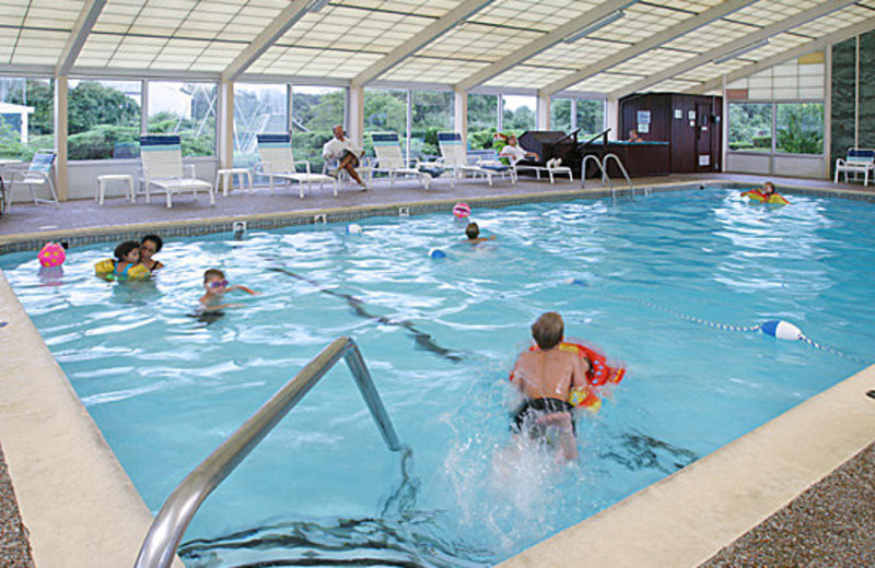 Enjoy the heated pool and hot tub at Tidewater Inn.