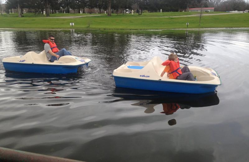 Paddle board at Mill Creek Ranch Resort.