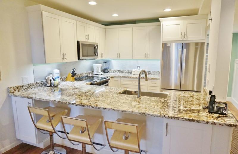 Rental kitchen at Palm Island Resort.