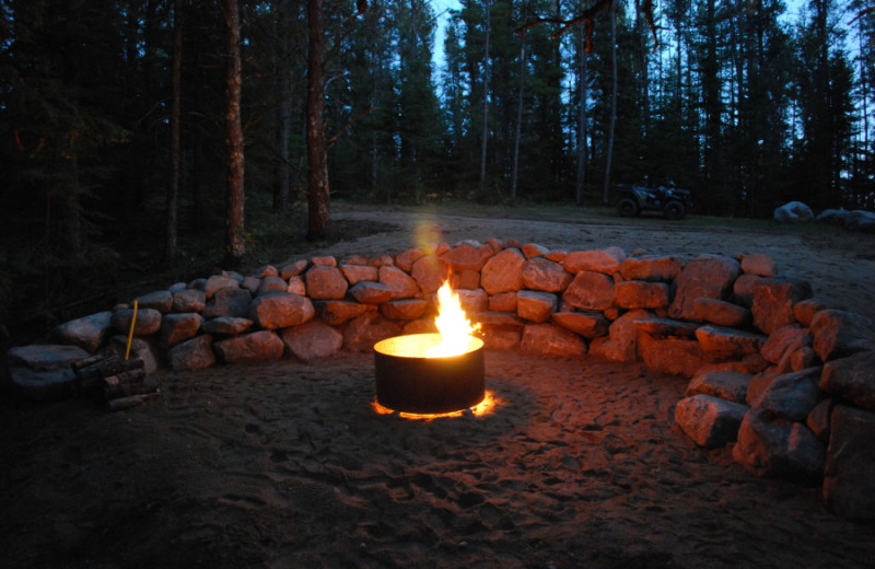 Bonfire at Black Lantern Resort and Retreat.