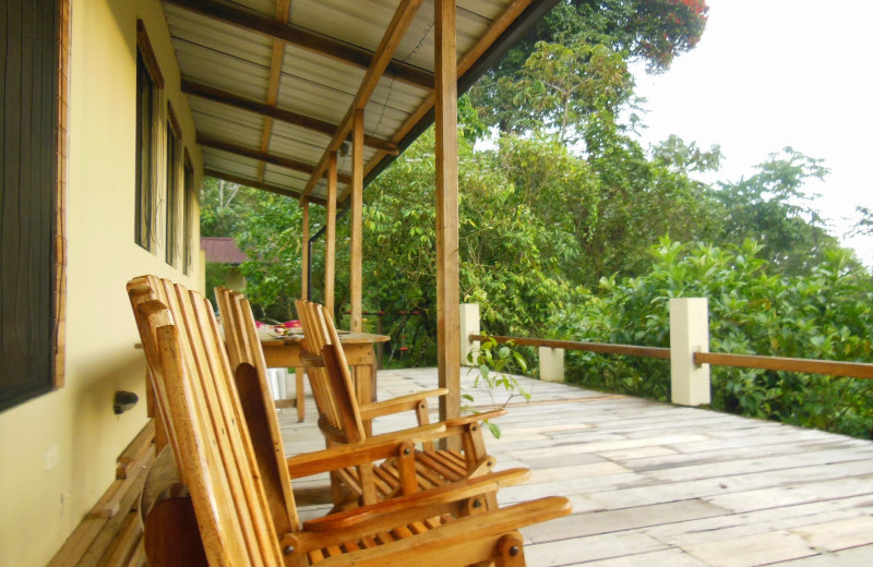 Deck at Wildsumaco Lodge.