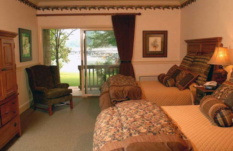 Guest room at The Ridges Resort & Club Lake Chatuge.