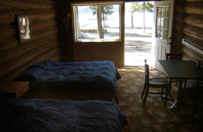 Cabin interior at North Shore Lodge & Resort.